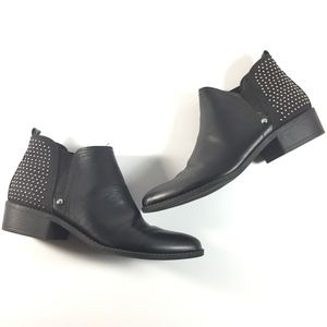 G by Guess Size 9.5 M Ankle Booties Black Silver